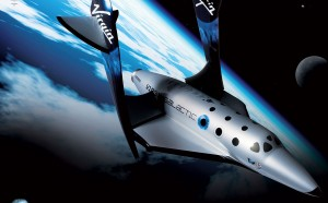 A conceptual illustration of SpaceShipTwo feathered in space. Source: V. Galactic.