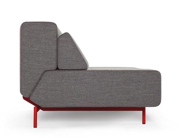 Pil-low is a convertible sofa (Kvadra)  designed by Neven & Sanja Kovacic. Photo: D. Kunic.