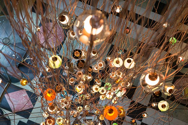 "Bocci ""28.280"" light installation at V&A. LDF 2013. Photo: Susan Smart."