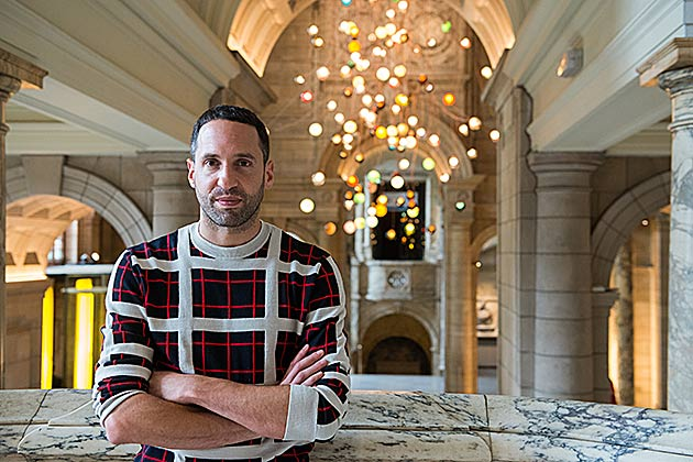 Omer Alber, Creative Director - Bocci at V&A London. Photo: Susan Smart.