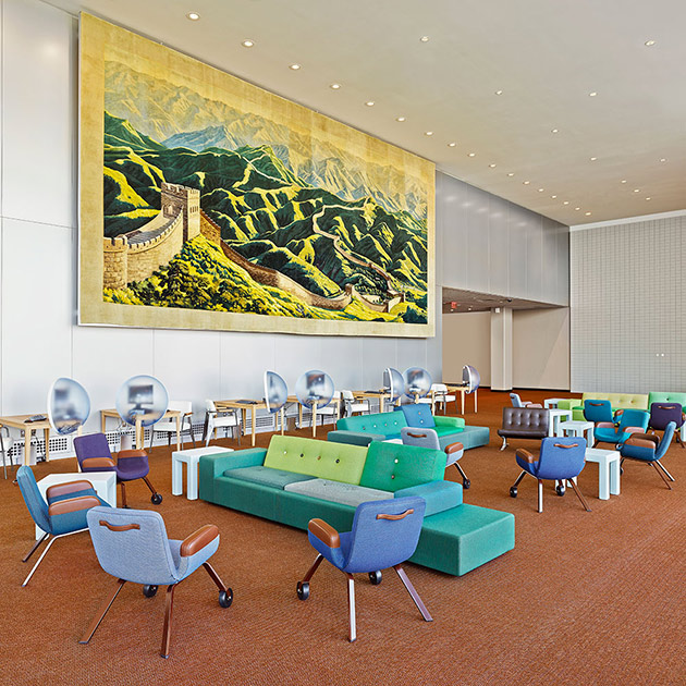 New design of the UN north delegate's lounge. Photo: Frank Oudeman.